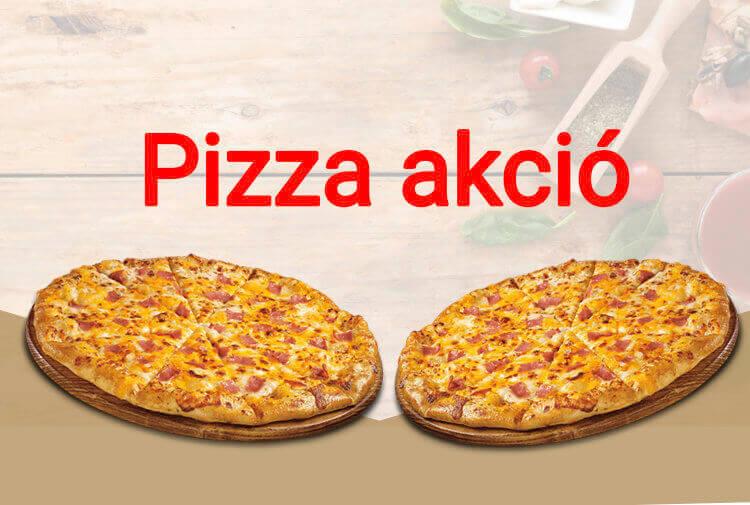 pizza akció